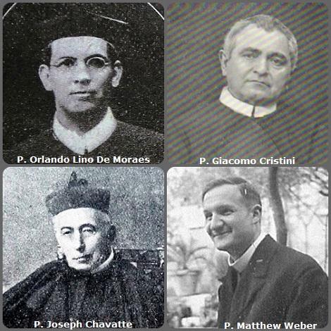 Tra i 51 defunti di oggi 16 dicembre, di cui 5 italiani, l'immagine mostra 4 Redentoristi: il brasiliano P. Orlando Lino De Moraes (1888-1924); l'italiano P. Giacomo Cristini (1853-1928); il francese P. Joseph Chavatte (1841-1931) e l'americano P. Matthew Weber (1892-1972).