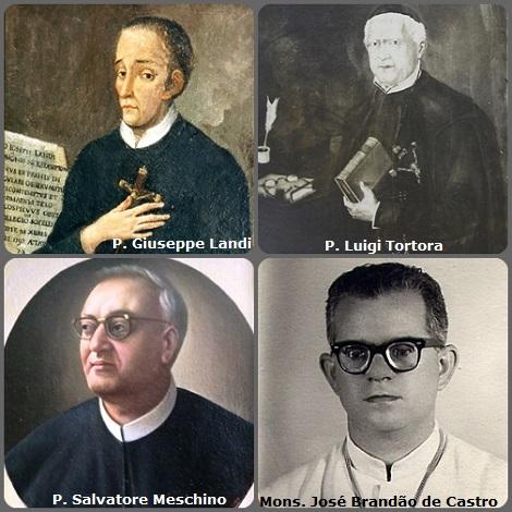 Tra i 39 defunti di oggi 23 dicembre, di cui 6 italiani, due immagini mostrano 10 Redentoristi: Prima immagine 4 Redentoristi: gli italiani P. Giuseppe Landi (1725-1797); P. Luigi Tortora (1800-1884); P. Salvatore Meschino (1922-1983) e il brasiliano Mons. José Brandão de Castro (1919-1999), vescovo di Propriá, Brasile.