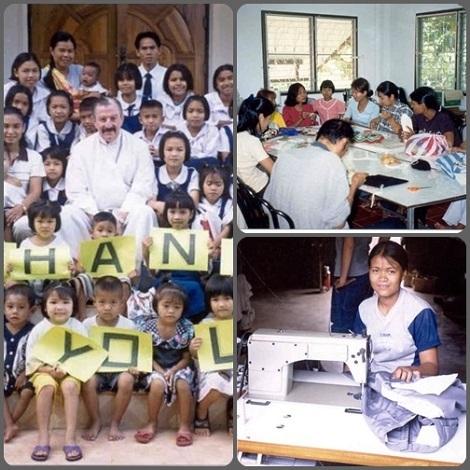 Thailandia 2013 – La Casa Viengkhuk per ragazze, fondata dal redentorista P. Mike Shea, offre un ambiente sano, sicuro, e di supporto alle ragazze orfane e abbandonate a causa del virus HIV/AIDS e le prepara all'inserimento nella vita sociale.