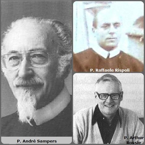 Tra i 38 defunti di oggi 25 dicembre, di cui 1 italiano, l'immagine mostra 3 Redentoristi: l'italiano P. Raffaele Rispoli (1875-1941); l'olandese P. André Sampers (1915-1998) e l'americano p. Arthur Rossie (1922-2007).