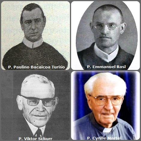 Tra i 45 defunti di oggi 26 dicembre, di cui 1 italiano, l'immagine mostra 4 Redentoristi: lo spagnolo P. Paulino Bacaicoa Turiso (1882-1924); il boemo P. Emmanuel Rasl (1876-1928); il tedesco P. Viktor Schurr (1898-1971) e il cabadese P. Cyrille Martel (1918-2006) morto in Giappone.