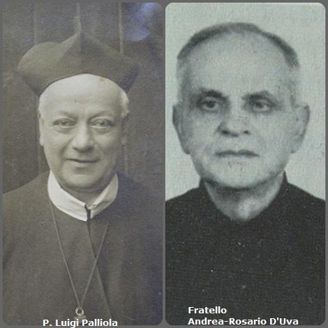 Tra i XX defunti di oggi 28 dicembre, di cui X italiani, l'immagine mostra 2 Redentoristi: gli italiani P. Luigi Palliola (1842-1916) e Fratello Andrea-Rosario D'Uva (1905-1981).