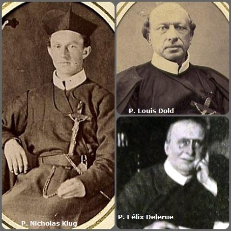 Tra i 32 defunti di oggi 29 dicembre, di cui 2 italiani, l'immagine mostra 3 Redentoristi: l'americano P. Nicholas Klug (1851-1880); il belga P. Louis Dold (1821-1882) e il francese P. Félix Delerue (1870-1938).
