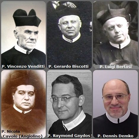 Tra i 44 defunti di oggi 30 dicembre, di cui 7 italiani, l'immagine mostra 6 Redentoristi: gli italiani P. Vincenzo Venditti (1819-1898); P. Gerardo Biscotti (1855-1936); P. Luigi Bertasi (1867-1951); P. Nicola Cavolo (Angiolino) (1886-1958); gli americani P. Raymond Gaydos (1917-1987) e P. Dennis Demko (1952-2009).