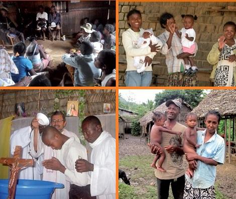 Madagascar redentorista 2013 – Le comunità di base, che compongono la grande comunità parrocchiale, sono molte vive: condivisione della fede e dei problemi, ma anche tanta solidarietà e carità tra i membri. E la gioia che non mancava mai. I poveri sono felici, anzi sono beati!