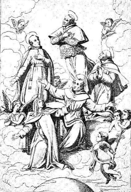 Disegno della canonizzazione di S. Alfonso avvenuta il 26 maggio 1839. – Fratello Luigi Damiani era stato incaricato di raccogliere offerte tramite questue estenuanti; ma ebbe la gioia vedere Santo il suo Fondatore.