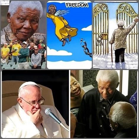 """La morte di Nelson Mandela ha suscitato cordoglio in tutto il mondo: tutti rendono onore a questo uomo che con la sua testimonianza tenace e non violento ha permesso all'umanità di diventare migliore. Papa Francesco ha reso omaggio al suo coraggioso impegno e i Vescovi del Sud Africa gli sono profondamente grati """"per il modo in cui ci ha guidato sulla via della riconciliazione""""."""