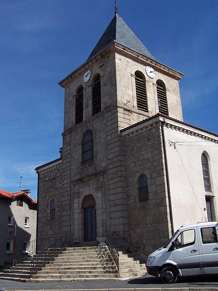 La chiesa parrocchiale si St. Maurice de Lignon dove nel 1893 morì il redentorista P. Aloys Noël celebrando la santa Messa nel corso della missione. (foto da internet).