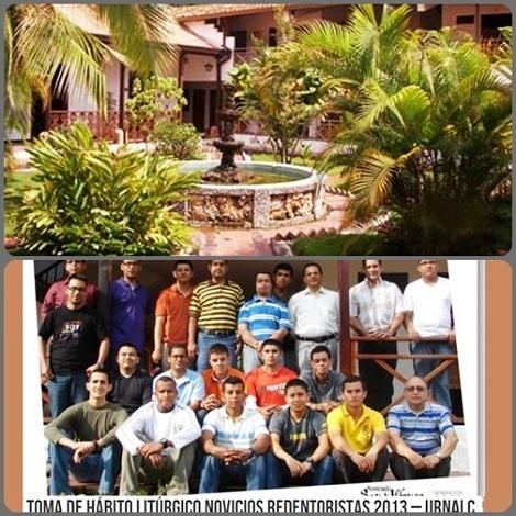 Piedecuesta, Colombia – La sede del noviziato interprovinciale dell'America Centrale e i novizi del 2013.