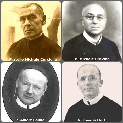 Seconda immagine 4 Redentoristi: gli italiani Fratello Michele Corcione (1879-1954) e P. Michele Gravina (1889-1977); il belga P. Albert Coulie (1891-1964) e l'americano P. Joseph Hart (1907-1987).