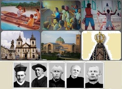 Brasile – Aparecida: il prodigioso ritrovamento della statuina della Madonna, la devozione che cresce, la Basilica antica e quella nuova; i primi missionari redentoristi arrivati dalla Germania.