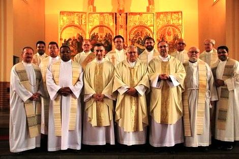 Danimarca - Una riunione di Missionari Redentoristi nel 2013: una presenza internazionale per un servizio pastorale adatto a questa terra, crocevia di popoli e di culture diverse.