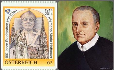 Centenario di San Clemente: Francobollo commemorativo e  quadro del redentorista indiano P. Bijo.