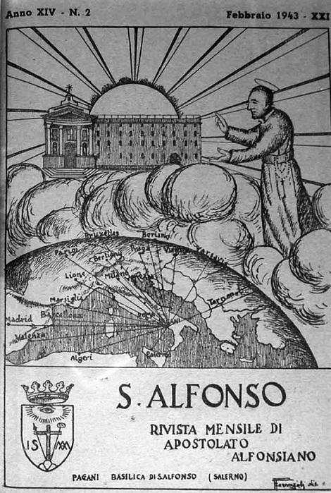 La copertina che ha accompagnato i numeri di questa Annata 1943, che, a causa della guerra, si è interrotta col mese di ottobre.