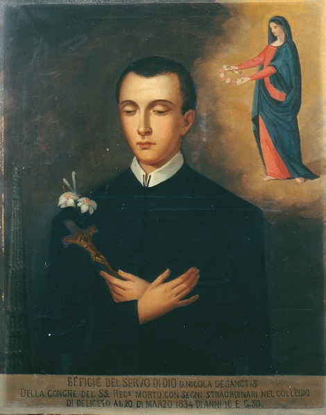Servo di Dio Studente Nicola De Sanctis, originario di Castelgrande (PZ) è vissuto solo 16 anni e mezzo; ma ha lasciato  un profumo di santità che intere generazioni di giovani redentoristi hanno imparato a repirare.