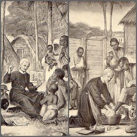 Intensi momenti di apostolato del Beato Pietro Donders nel Suriname, allora Guyana Olandese. - Eppure da giovane. al seminario redentorista in Olanda, era stato rifiutato a causa della sua gracile salute: le vie di Dio...