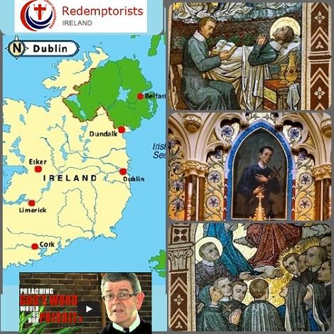 La provincia di Dublino oggi e alcuni mosaici raffiguranti santi redentoristi nella chiesa Mount St Alphonsus in Limerick.