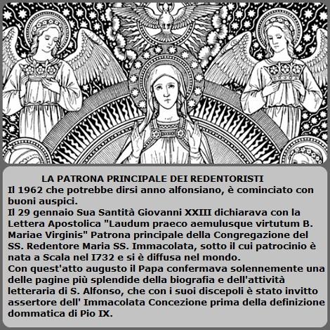 Particolare dell'Immacolata, uno dei tanti disegni di Fratello Maz Schmalzl e la notizia apparsa su Spicilegium Historicum (n.10 del1962).