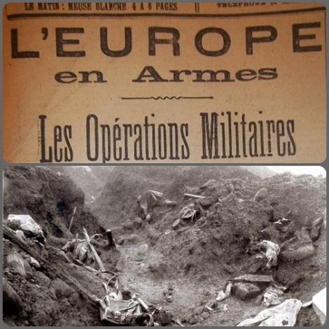 foto > Meuse = Violenti operazioni militari nella  zona di Meuse durante le quali i francesi concquistarono le trincee alla baionetta al costo di molte vite umane, tra cui il giovane Fr. Eugène.