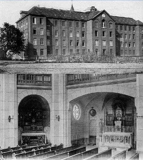 """Mouscron - La Casa Redentorista dove nel 1925 consumò la sua laboriosa vita il  P. Joseph Tétard. Tra gli altri incarichi si distinse come Direttore della Rivista """"La Sainte Famille"""" a Dunkerque."""