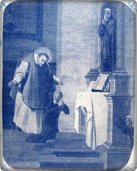 Pagani - S. Alfonso in estasi durante la celebrazione della messa.