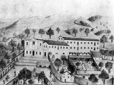 Antico disegno della Casa redentorista di Scifelli (FR) dove nel 1841 consumò la sua vita il P. Vincenzo Gagliardi, nativo di Castelvetere sul Calore (BN).