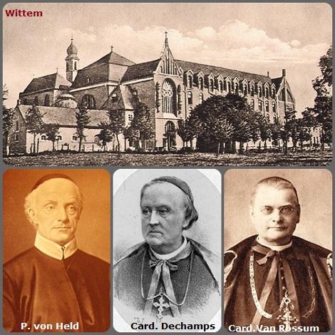 La gloriosa Casa di Wittem in Olanda con il suo fondatore Padre Federico von Held e i cardinali Dechamps e Van Rossum che completarono la loro formazione intellettuale e spirituale.