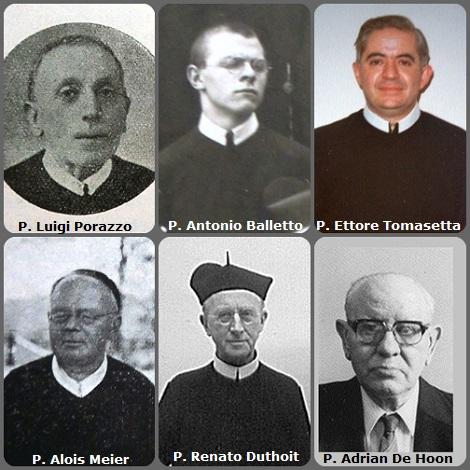 Tra i 42 defunti di oggi, 2 febbraio, di cui 7 italiani, l'immagine mostra 6 Redentoristi: gli italiani: P. Luigi Porazzo (1846-1925); P. Antonio Balletto (1908-1977) in una fotografia da studente e P. Ettore Tomasetta (1933-1998); il bavarese P. Alois Meier (1871-1935); il francese P. Renato Duthoit Carette (1883-1972) missionario in Colombia; e l'olandese P. Adrianus De Hoon (1918-1997).