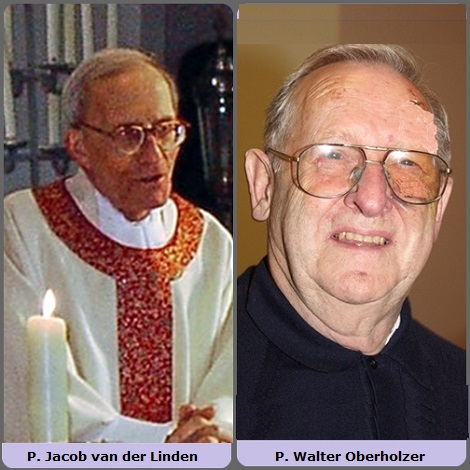 Seconda immagine, 2 Redentoristi: l'olandese P. Jacob van der Linden (1919-2005) e lo svizzero P. Walter Oberholzer (1935-2013).