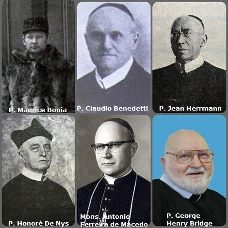 Tra i 42 defunti di oggi, 28 febbraio, di cui 2 italiani l'immagine mostra 6 Redentoristi: il neozelandese P. Maurice Bonia (1864-1903), pioniere in Canada; l'italiano P. Claudio Benedetti (1841-1926) Postulatore Generale; il francese P. Jean Herrmann (1849-1927); il belga P. Honoré De Nys (1848-1929); il brasiliano Mons. Antonio Ferreira de Macedo (1902-1989) vescovo coadiutore di Aparecida e l'americano P. George Henry Bridge (1922-2011)