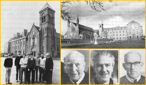 Provincia di Dublino 1983 - Il Padre Generale Pfab con i novizi a Dundalk - Clonard Honastery e i Padri Ugo Kerr, John O'Donnell (provinciale) e Thomas Larkin.