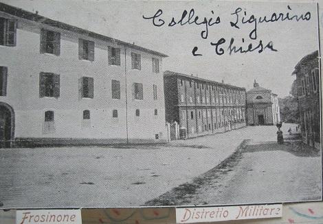 Antica foto della chiesa e del Convento redentorista di Frosinone (in Cronache di S. Schiavone).
