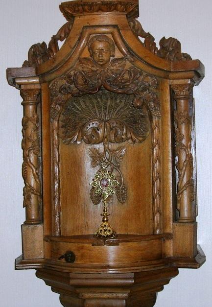 Lussemburgo - Reliquiario che ancora si può ammirare nella Casa redentorista. dove nel 1880 morì il Fratello Joseph Gerstenlauer.