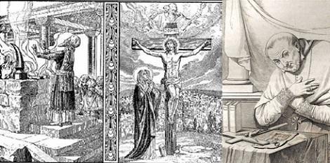 Caro mio Redentore, accetta per tua pietà l'offerta; ed acciocché sia degna d'un Dio, perdonami, illuminami, purificami, santificami, infiammami del tuo santo fuoco, che per accenderlo nei nostri cuori, sei venuto nel mondo; sicché l'anima mia sia un olocausto perpetuo ad onor tuo. (S. Alfonso).