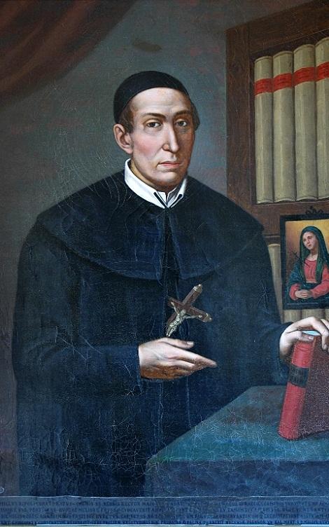 Il ritratto del P. GianCamillo Ripoli nella Galleria dei Rettori Maggiori a Roma, Via Merulana, Casa Generalizia dei Redentoristi (foto Raccolta Marrazzo).
