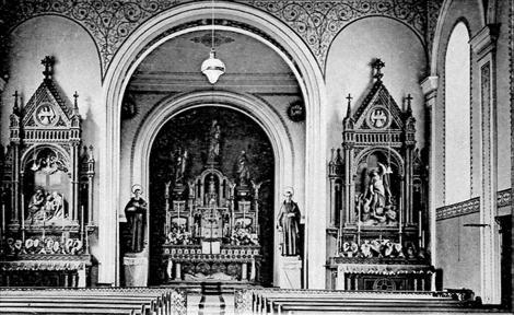 Téterchen (Francia) - Particolare della cappella della Casa redentorista dove nel 1859 morì lo studente François Ritter.