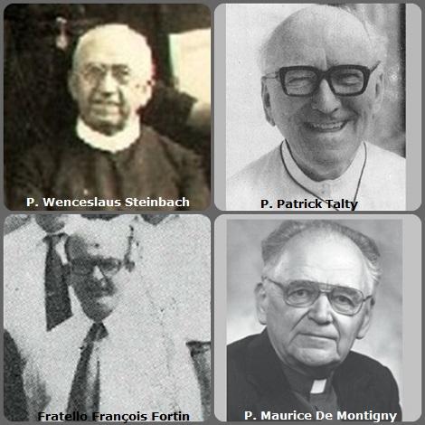 Seconda immagine, 4 Redentoristi: l'americano P. Wenceslaus Steinbach (1882-1947); l'australiano P. Patrick Talty (1902-1988); i canadesi Fratello François Fortin (1925-1986) e P. Maurice De Montigny (1917-2012).