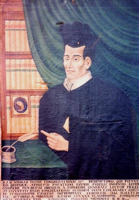 Il giovane redentorista P. Nicola Intini, nativo di Noci (BA), morì di tifo nella gloria Casa di Deliceto all'età di 30 anni, nel 1853.