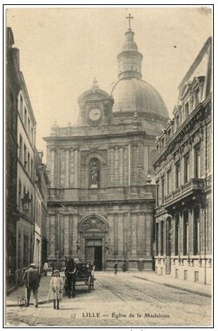 Lille (Francia) in un'antica foto. Chiesa della Maddalena. - In questa città , nella casa redentorista, morì nel 1868 il Padre redentorista Henri Dubaele.