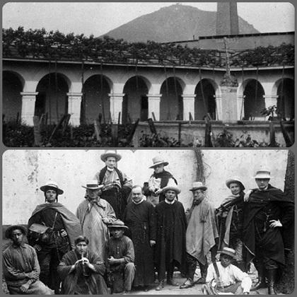 Lima (Perù) - Chiostro redentorista e gruppo di missionari agli inizi del '900. - Il redentorista P. Georges Muller, nativo del Lussemburgo consumò la sua vita nelle missioni in Europa e in America latina, dove morì a Lima nel 1893.