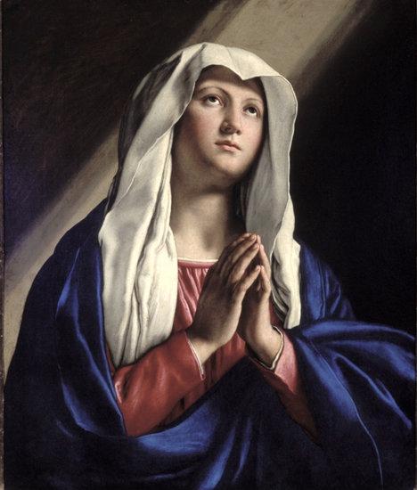 O Vergine, tu avesti più fede di tutti gli uomini e di tutti gli angeli... Vergine santa, per il merito della tua grande fede impetrami la grazia di una fede viva: «Signora, accresci in noi la fede!» (S. Alfonso).