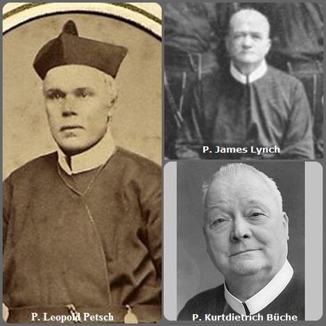 Tra i 32 defunti di oggi 20 giugno, di cui 1 italiano l'immagine mostra tre Redentoristi: dalla Moravia il P. Leopold Petsch (1821-1882), l'americano P. James Lynch (1878-1931) e il tedesco P. Büche Kurtdietrich (1905-1980).