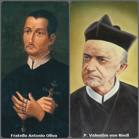 Tra i 22 defunti di oggi 22 giugno, di cui 3 italiani l'immagine mostra due Redentoristi: l'italiano fratello Antonio Oliva (1730-1775), della prima generazione redentorista, e il tedesco P. Valentim von Riedl (1847-1920) che fu tra i pionieri redentoristi in Brasile.