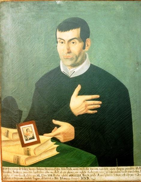 Ritratto del redentorista P. Cosma De Falco, originario  di Piazzolla di Nola e morto a soli 40 anni a Deliceto (FG) nel 1856.