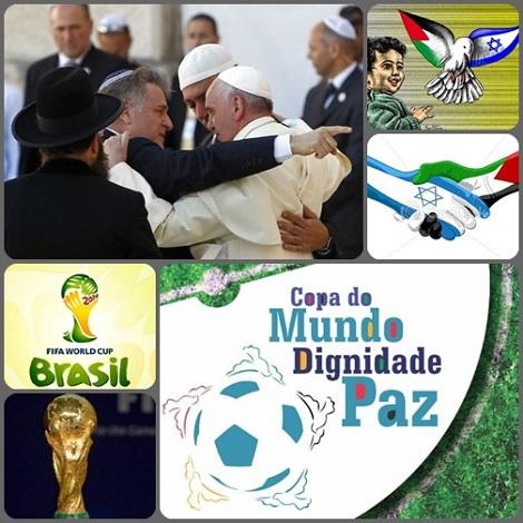 Il mondo ha bisogno di pace ancora oggi: attraverso la preghiera di Israele e Palestina nella Casa di Papa Francesco; attraverso l'incontro di popoli nei Mondiali di calcio che si aprono giorno 12 giugno.