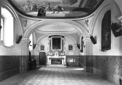 Pagani (SA) – La cosiddetta Congrega che fu la primitiva chiesetta dei Redentoristi. Vi furono sepolti S. Alfonso e diversi Redentoristi tra i quali il P. Vincenzo Trotti morto nel 1855.