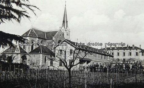 Valence (Francia). Antica foto trovata in internet che presenta la chiesa e la casa redentorista, dove nel 1899 morì il Fratello Laurent Brodbecker.