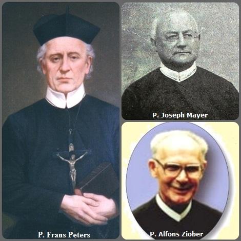 Tra i 35 defunti di oggi 22 luglio, di cui 4 italiani l'immagine mostra 3 Redentoristi: l'olandese P. Frans Peters (1824-1893) e l'austriaco P. Joseph Mayer (1850-1924) e il polacco P. Alfons Ziober (1921–2007).