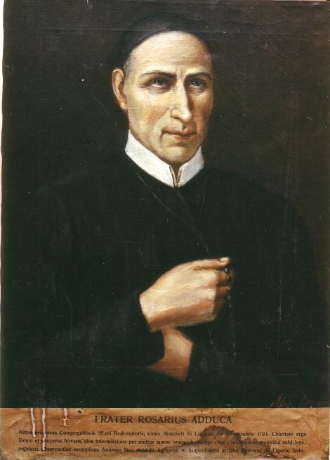 Ritratto del Servo di Dio Fratello Rosario Adduca, nativo di Maschito (PZ) e morto ad Agrigento.