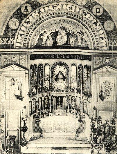 Dunkerque (Francia) - Particolare della chiesa dei Redentoristi. Nel 1880 ci morì il P. Alexandre Krust.